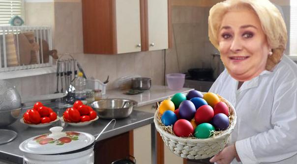 Neștiind ce se sărbătorește de 1 Decembrie, Viorica a vopsit ouăle!