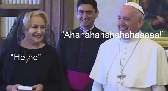 Nu le-a zis Viorica nicio gluma. Nu e clar că râd de ea?