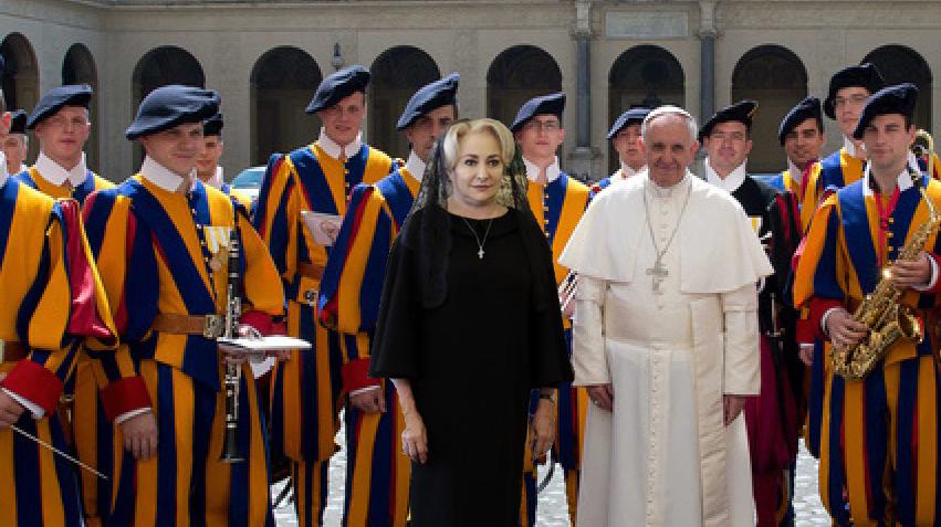 """Viorica critică pazade la Vatican: """"Toți paznicii era în pijamale!"""""""