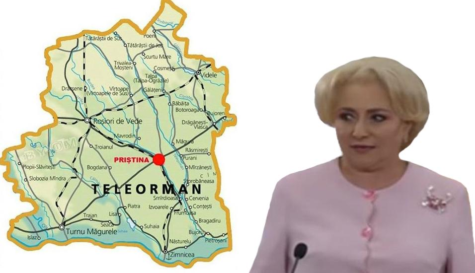 Guvernul va muta Priștina în Teleorman, ca să o poată vizita Viorica mai des, că i-a plăcut!