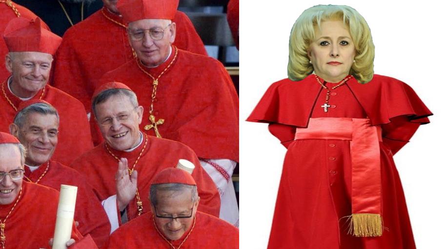 Incident la Vatican: Viorica a furat robele cardinalilor crezând că sunt draperii!