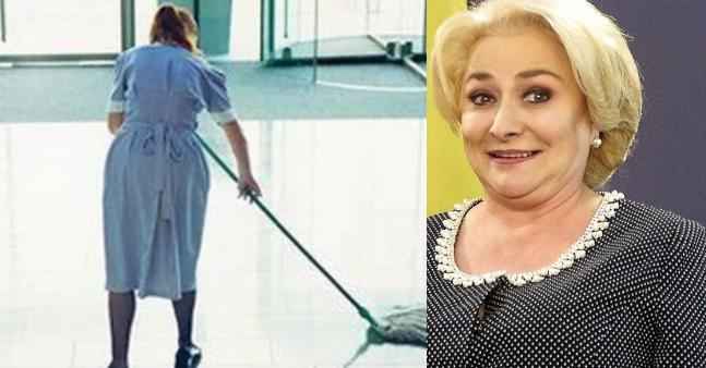 Femeia de serviciu de la şcoala din Videle solicită dezbatere televizatăcu Viorica Dăncilă pentru a se decidecine va ocupa postul după alegeri!