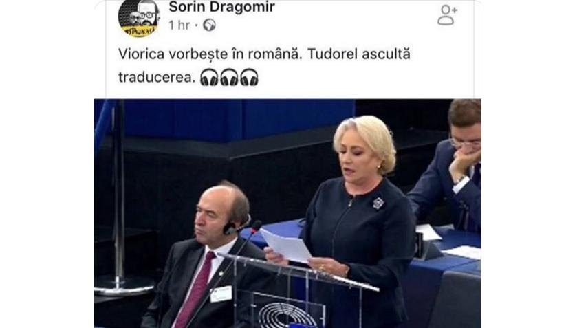 Proștii neamului la Bruxelles: Viorica vorbește în dăncileză, Tudorel ascultă traducerea în moldovenească