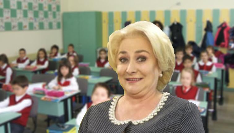 Viorica, lăsată repetentă din greșeală în timpul unei vizite de lucru la o școală primară!