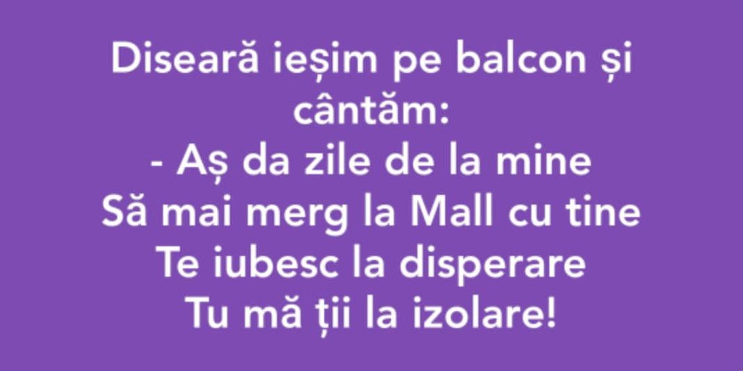 #cântarea româniei pe balcon