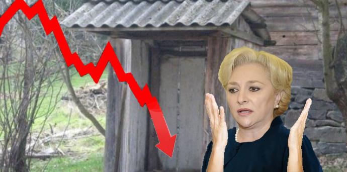 Panică la Videle: Indicele Dow Jones a căzut în veceul din fundul curții în timp ce încerca să se cace!