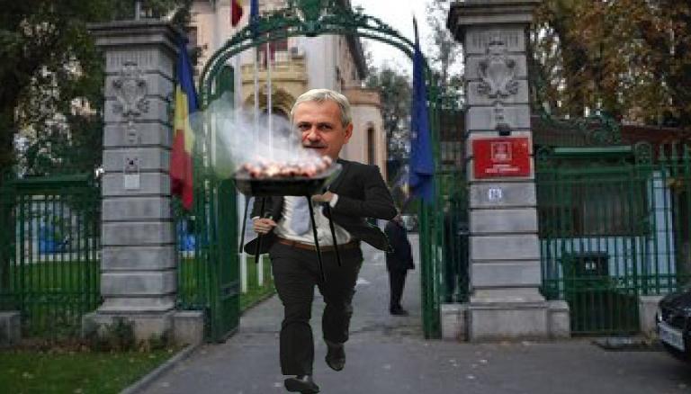 Țeapă la sediul PSD: Dragnea a fugit cu micii!