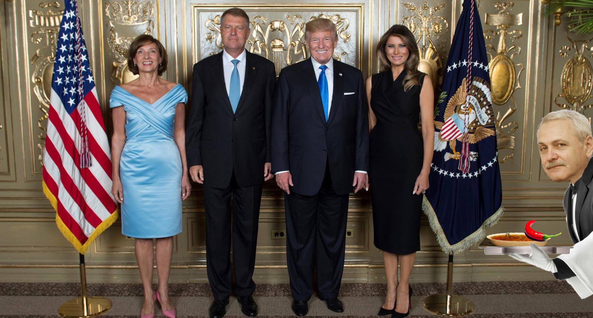Comunicat PSD: Liviu Dragnea a apărut într-o poză cu Donald și Melania Trump!