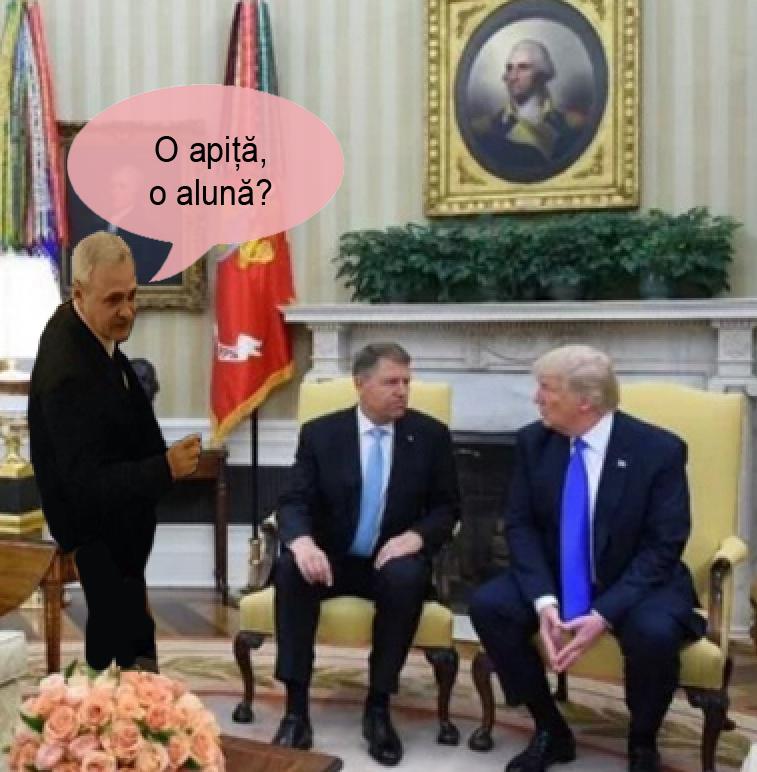 A fost și Dragnea la întâlnirea cu Donald Trump!