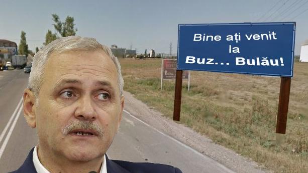 """Dragnea a fost primit la Buzău cu mesajul """"Bine ați venit la Bulău!"""""""
