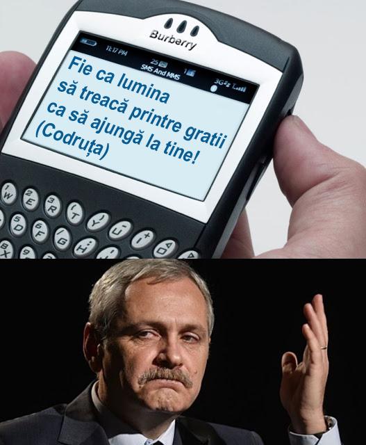 Dragnea a primit defăimare pe SMS, în loc de lumină!
