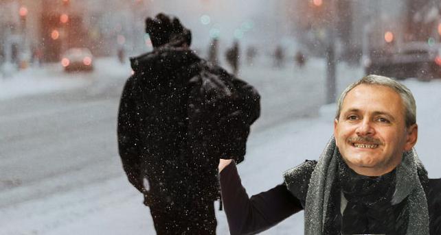 E atât de frig că Dragnea îți bagă mâna în buzunar doar ca să se încălzească!