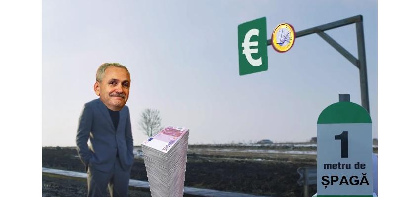 Dragnea a inaugurat primul metru de șpagă din Autostrada Moldova!
