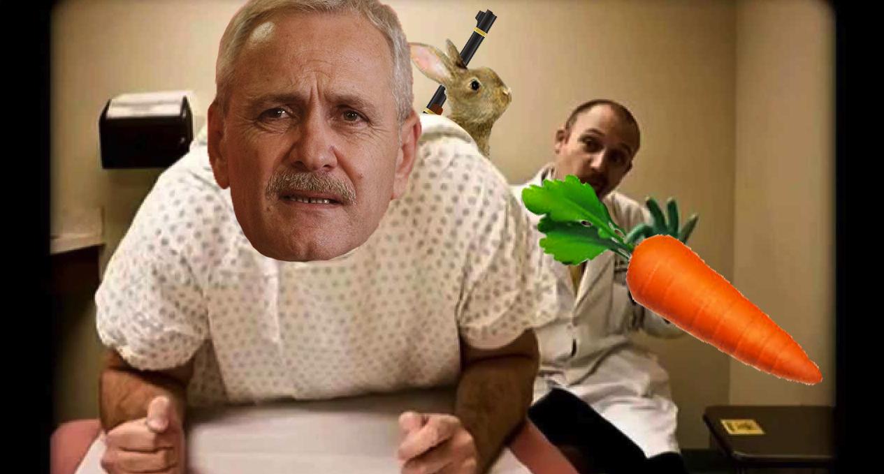 Dragnea, internat la urgență: doctorii i-au găsit în anus un morcov cu tot cu iepure și vânător!