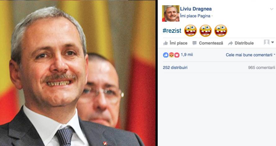 """Dragnea, mesaj pentru dentistul de la Jilava: """"#rezist!"""""""