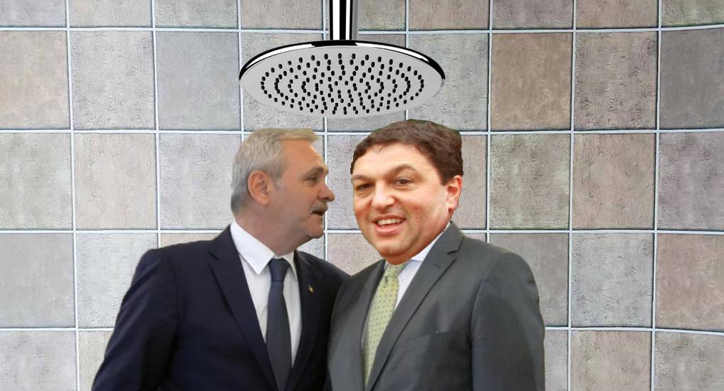Scandalos! La Jilava au început să circule poze cu Șerban Nicolae și Liviu Dragnea când fac duș anal!