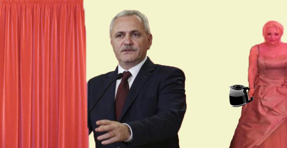 Incident la ședința PSD: Dragnea a cerut o cafea unei draperii pe care a confundat-o cu Viorica Dăncilă!