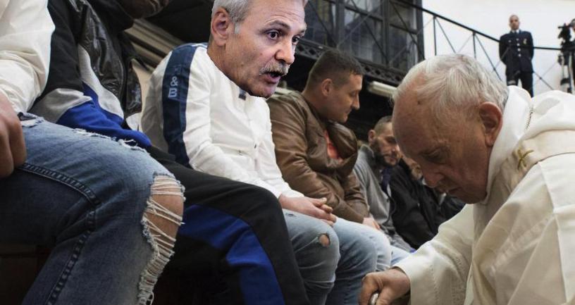 Papa a sunat la DNA să întrebe când i-ar putea spăla picioarele lui Dragnea!