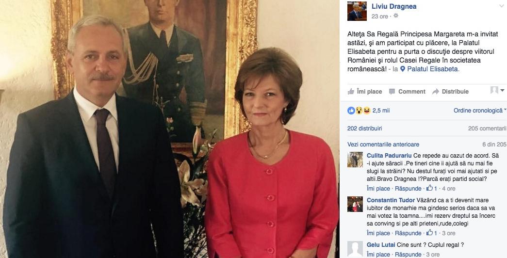 """Casa Regală Duda: """"Succesorul de drept este Liviu Dragnea, marele duce de Râpă!"""""""