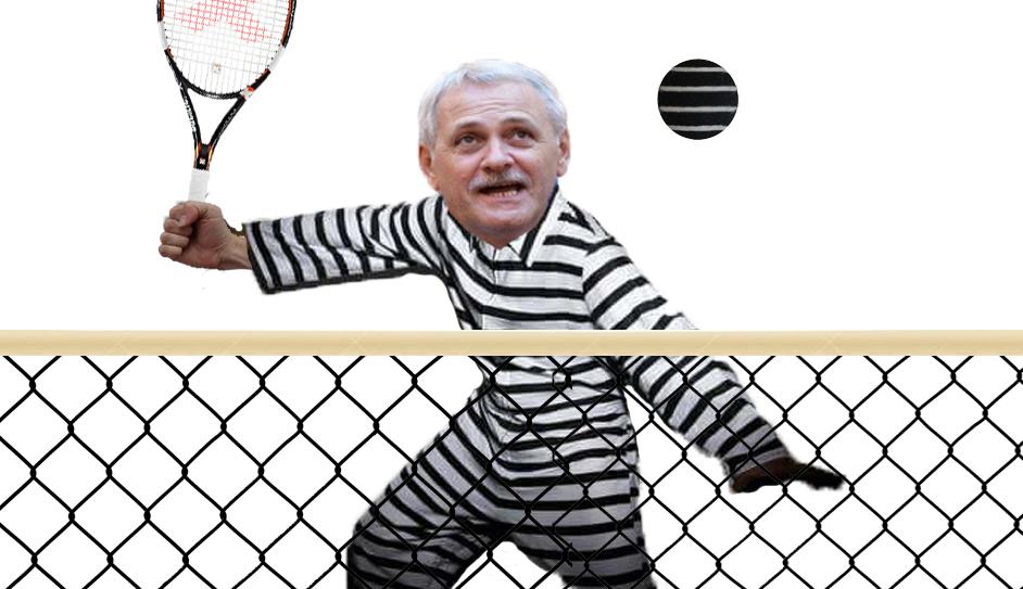 Dragnea s-a lăsat de tenis de frică să nu ajungă după fileu!