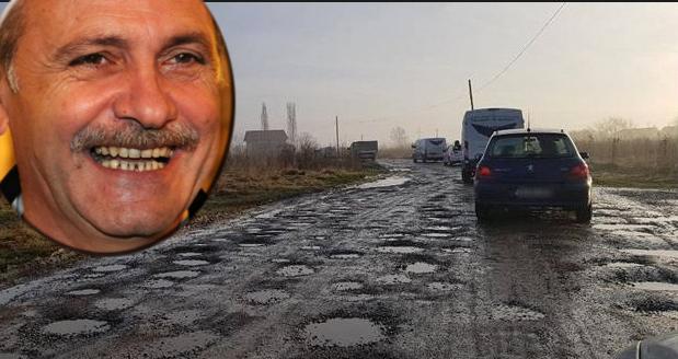 Un drum reparat de TelDrum arată exact ca dantura lui Dragnea!
