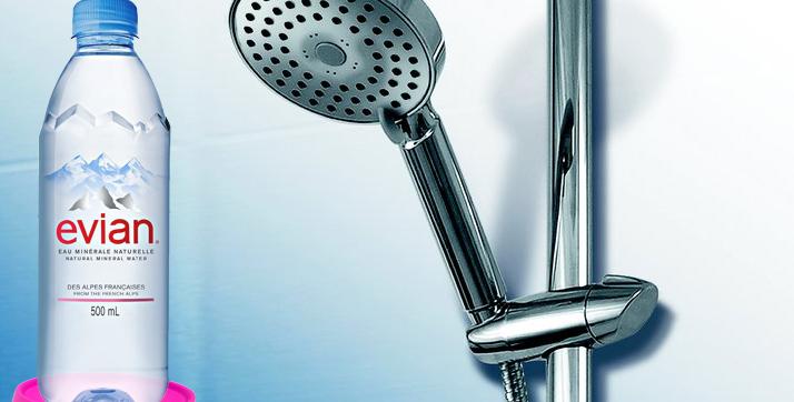 ApaNova: Dacă nu vă place apa de la robinet, spălaţi-vă cu Evian!