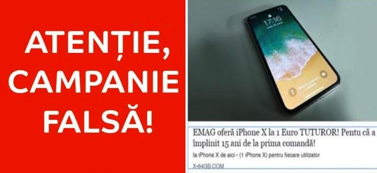 Zeci de mii de fraieri au crezut că eMag dă câte un iPhone X gratis la toată lumea. De aia iese PSD-ul!