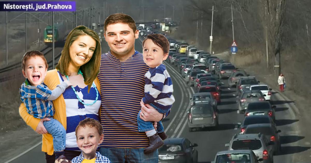 Doi tineri care s-au cunoscut în coloana de pe DN1 în Nistorești s-au căsătorit la Comarnic și la Sinaia aveau 3 copii!