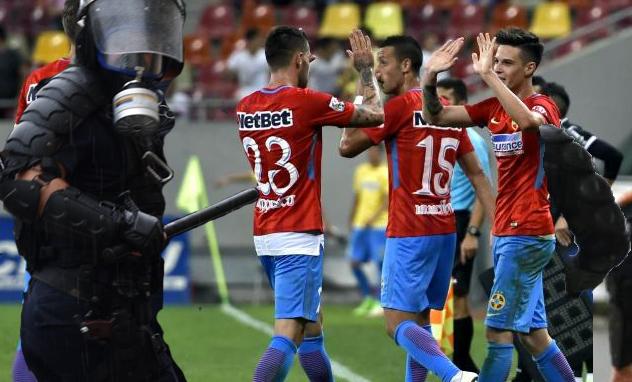 În atenția fotbaliștilor FCSB: Dacă dați gol, nu ridicați mâinile că vă bat jandarmii!