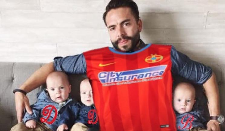 Un FCSB-ist şi-a botezat tripleții Doar, Dinamo şi Bucureşti!