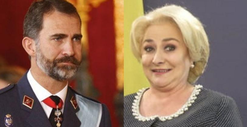 Viorica l-a întrebat pe Felipe al VI-lea unde sunt ceilalți cinci!
