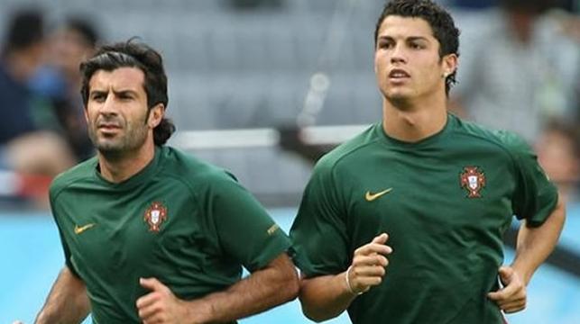 Diferența dintre noi și ei e că pe ghetele lor de aur le cheamă Figo și Ronaldo