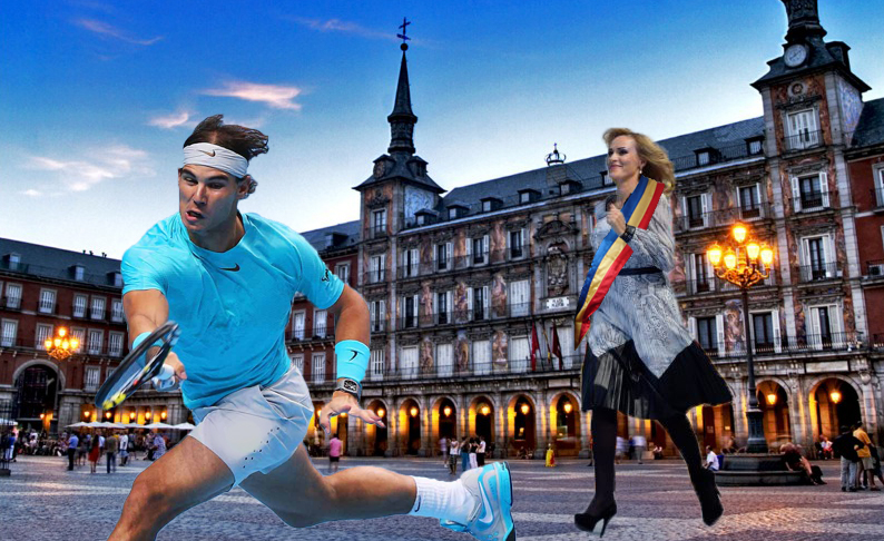 Madrid: O nebună îl aleargă pe Nadal pe străzi ca să-i dea cheile orașului!