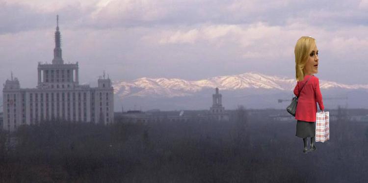 E atât de senin în Bucureşti încât se vede Firea plecând înapoi la Bacău!