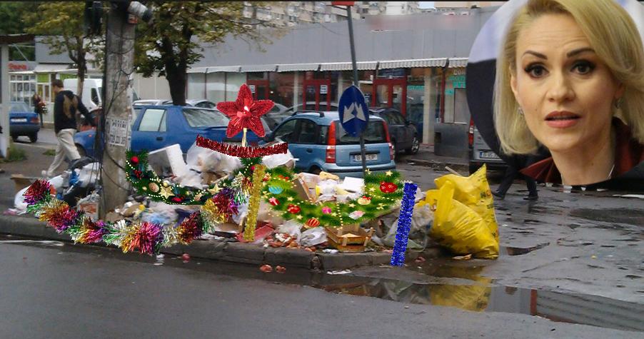 """Cum va rezolva Firea problema gunoiului din București:""""Îi punem beteală și globuri, să arate frumos de Crăciun!"""""""