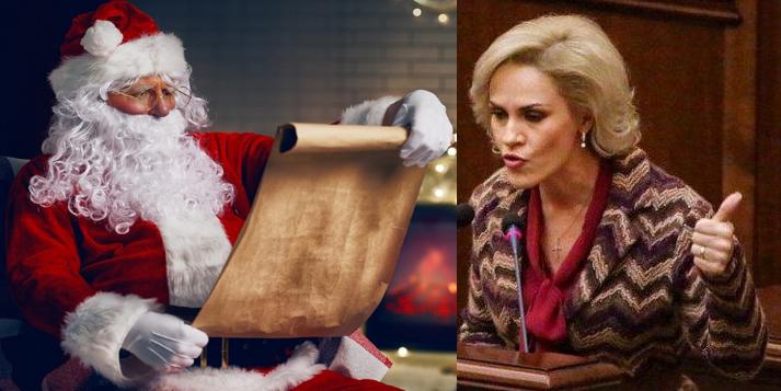 """Scrisoarea lui Firea către Moș Crăciun: """"Mânca-mi-ai…, impotentule care nu ai copii!"""""""