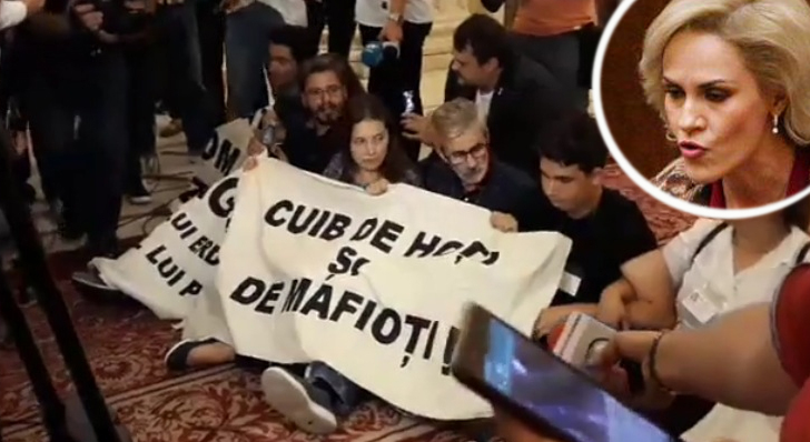 Fierea: Tinerii care au protestat în Parlament au huiduit-o pe Simona Halep!