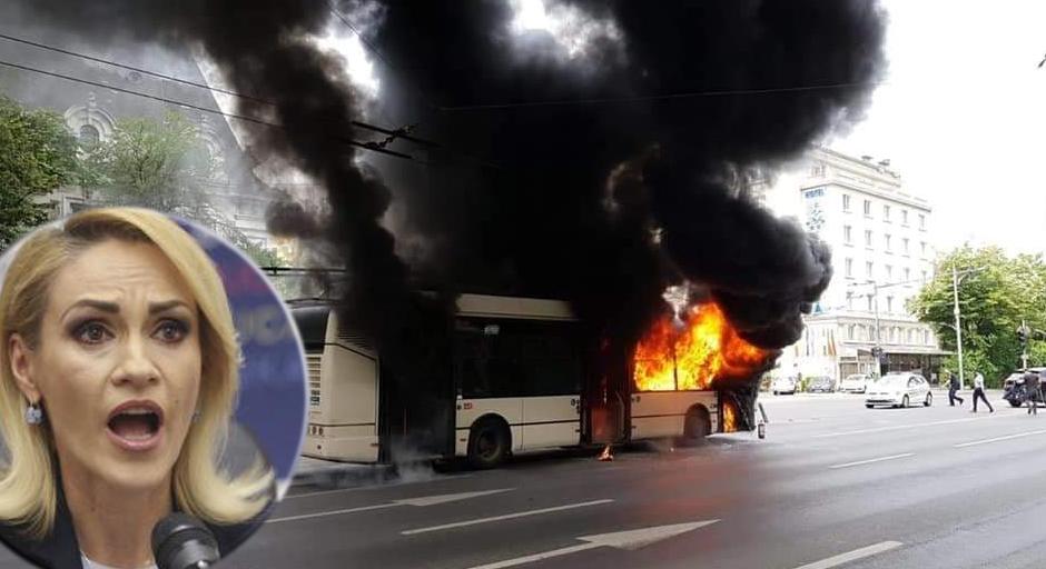 """Fierea: """"Șoferul troleibuzului nu avea făcută revizia lacruciulițele şi iconițele de pe parbriz! Cum sănu ia foc?"""""""
