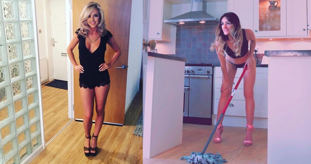 O tânără şi-a deschis firmă de făcut curăţenie în bikinişi câştigă 10.000€ pe lună. Curățenie la domiciliul clientului sau la hotel!