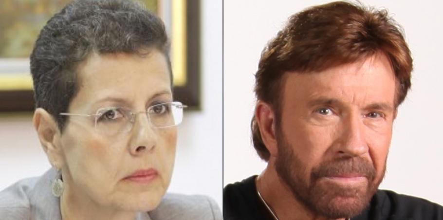 Adina Florea i-a făcut dosar penal lui Chuck Norris!