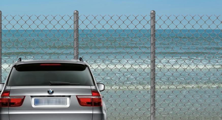 Marea Neagră a făcut un gard la granița cu România, ca să nu mai intre BMW-urile!