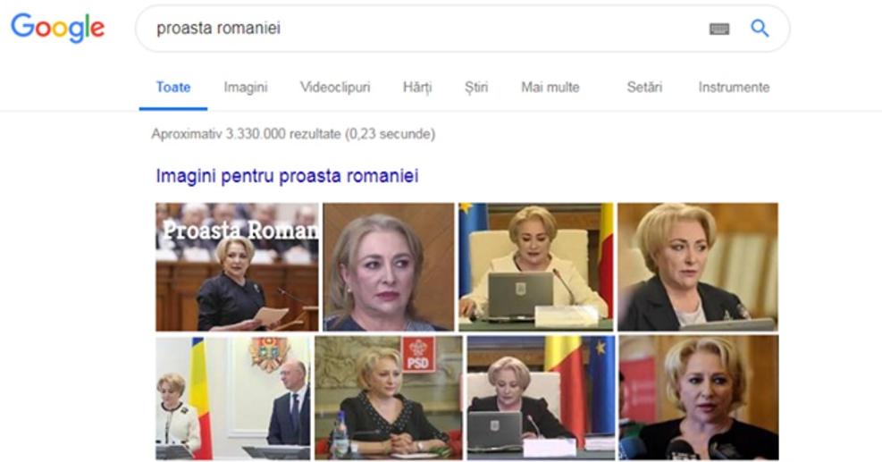 """Dacă scrii """"Proasta României"""" pe Google, îți apar oferte de draperii!"""