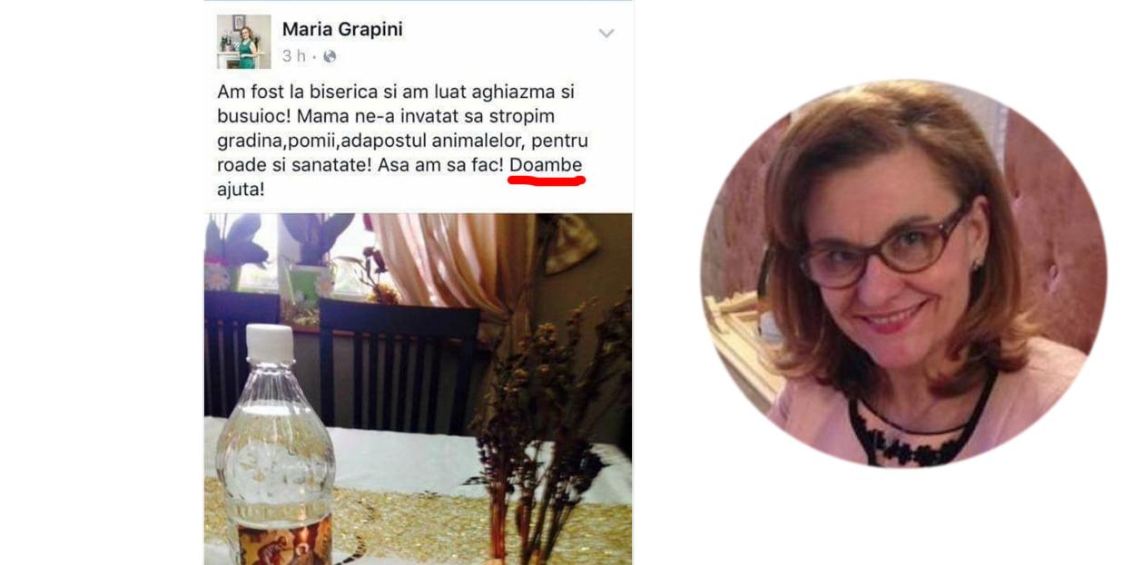 Doambe fereste! Maria Grapini era cât pe ce să posteze fără greșeli!