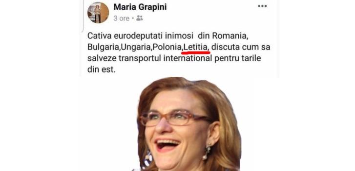 Maria Grapini a inventat o țară nouă: Letiția. Se învecinează cu Antonia și Betonia
