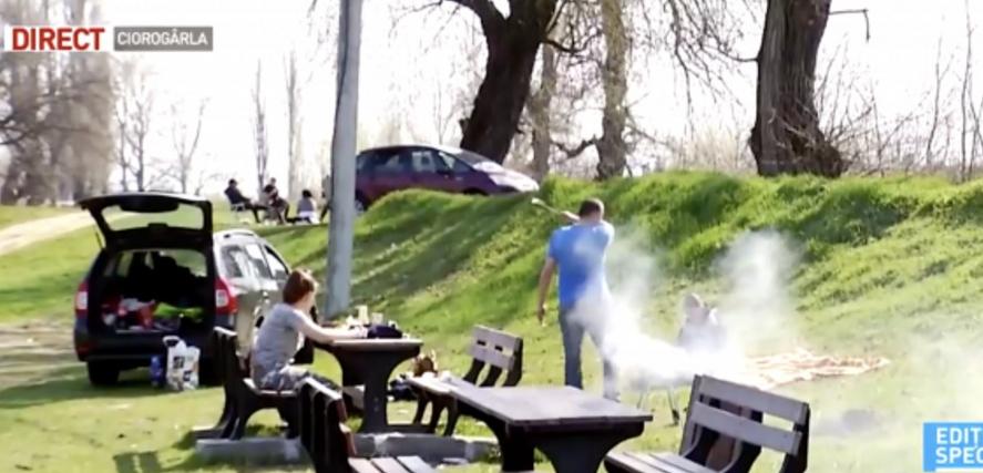 Habemus Covid-19!De lângă Bucureştiiese fum de mici pe grătar!