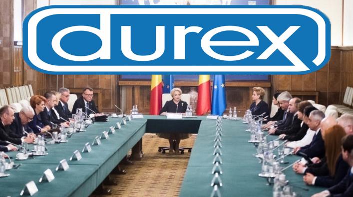 Durex își cere scuze pentru componența Guvernului României!