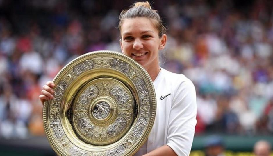 Ladies and gentlemen, the Queen of Wimbledon, Simona Halep!