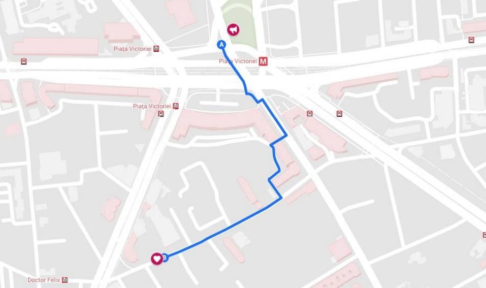 O hartă care poate salva vieți la mitingul PSD: Cel mai scurt drum până la Catena!