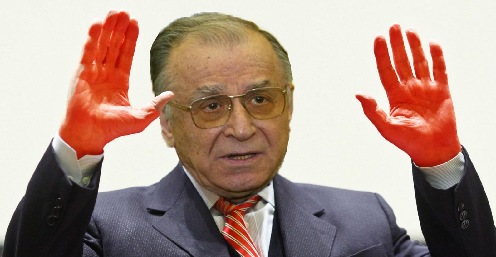 Iliescu a ajuns din nou la spital! De fiecare dată când se apropie 21-22 decembrie, îi apar niște chestii roșii pe mâini!