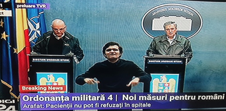 Interpretul pentru surdo-muți pare singurul care ştie ce face. Din toată țara!